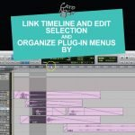 link timeline and edit selection and organize plug-in menus by